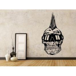 Samolepka na zeď Punk lebka 1206