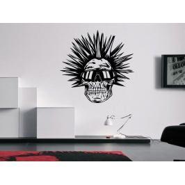 Samolepka na zeď Punk lebka 1209