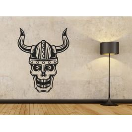 Samolepka na zeď Lebka vikingská 1218