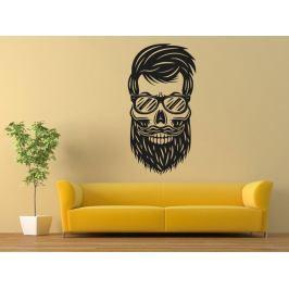 Samolepka na zeď Hipsterská lebka 1220