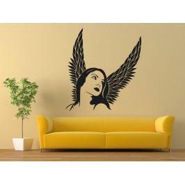 Samolepka na zeď Anděl žena 1235