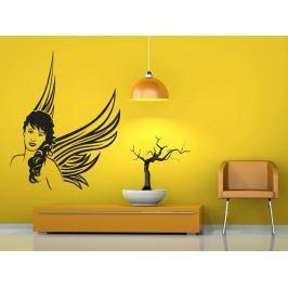 Samolepka na zeď Žena anděl 1241