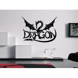 Samolepka na zeď Drak a nápis Dragon 1265