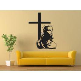 Samolepka na zeď Ježíš a kříž 1371