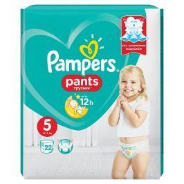 Pampers plenkové kalhotky 5 Junior, 12-18kg 22 ks