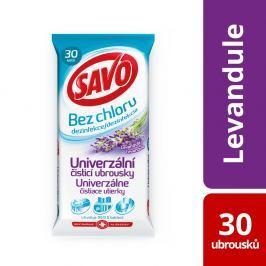 Savo univerzální dezinfekční čisticí ubrousky bez chloru, levandule 30 ks