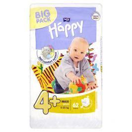 Bella Baby Happy 4+ Maxi plus jednorázové plenky 9-20 kg  62 ks