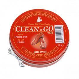 Clean&Go krém na obuv v plechovce hnědý 40 g