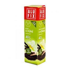 Alufix pytle na odpad zatahovací s vůní černý čaj a vanilka, 40 l 12 ks, 53 x 60 cm