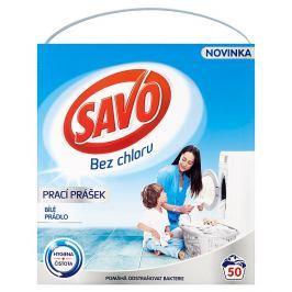 Savo prací prášek na bílé prádlo, 50 praní 3 kg