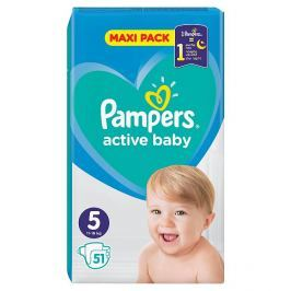 Pampers Active Baby Maxi Pack S5  51 ks