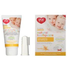 SPLAT Zubní pasta pro děti Vanilka Baby + prstový kartáček 40 ml