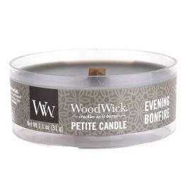 WoodWick Aromatická malá svíčka s dřevěným knotem Evening Bonfire 31 g