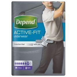 Inkontinenční kalhotky absorpční DEPEND Active-Fit M pro muže 8ks