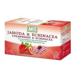 Fytopharma Ovocno-bylinný čaj jahoda & echinacea 20x2g