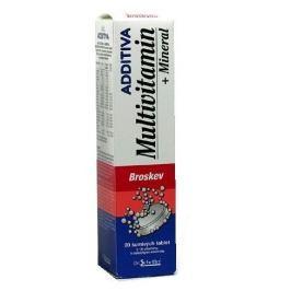 Additiva Multivitamin+Mineral broskev 20 šumivých tablet