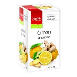 Apotheke Citron+zázvor s lípou čaj nálevové sáčky 20x 2 g