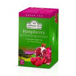 Ahmad Tea Green Tea Raspberry & Pomegranate porcovaný čaj 20 sáčků