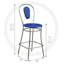 Metpol Barová židle Viki Metpol 111/101 x 73/63 x 47 x 40