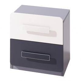 Gib Meble Gib Meble Noční stolek LIDO LSNOC Gib 40/44/42 Barva: popel-grafit-bila