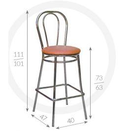 Metpol Barová židle Tulipán Metpol 111/101 x 73/63 x 47 x 40