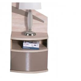 Fadome Noční stolek DOME L/P DL2-1 Fadome 50/58/28 Barva: dub-sonoma-cappuccino-lesk