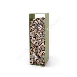 HS FLAMINGO Stojan na dřevo FLAMINGO DELUXE 2, olivová