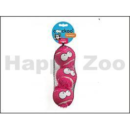 Hračka EBI plyš - Coockoo Breezy míč fialový (L) 7,5cm (3ks) (DO