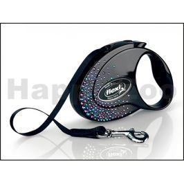 FLEXI Glam Splash Mystic (S) Black (do 12kg, 3m pásek)