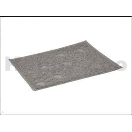 Předložka před toaletu FLAMINGO obdélníková šedá 60x90cm
