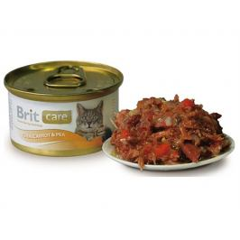 Konzerva BRIT CARE Cat - Tuna, Carrot and Pea 80g