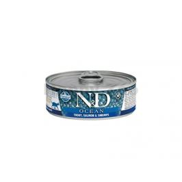 Konzerva N&D Cat Ocean Adult Trout & Salmon & Shrimps 80g