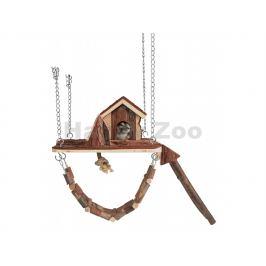 Hračka TRIXIE pro hlodavce - dřevěné závěsné hřiště s domkem JAN