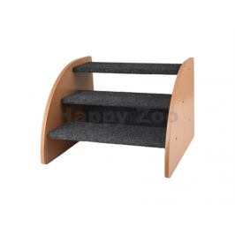 Schody dřevěné FLAMINGO Karpi šedé 41,5x38,5x30cm