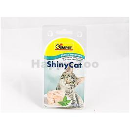Konzerva GIMPET Shiny Cat kuře a krevety 2x70g