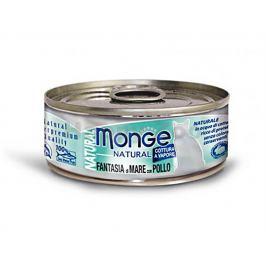 Konzerva MONGE Cat - mořské plody a kuře 80g (DOPRODEJ)