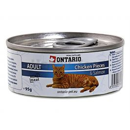 Konzerva ONTARIO Cat Chicken Pieces & Salmon 95g