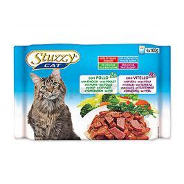 Multipack kapsička STUZZY Cat - s kuřecím a telecím (4x100g)