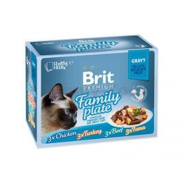 Kapsička BRIT CARE Cat Fillets in Gravy Flavour Box 12x85g (mult