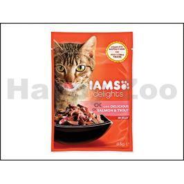 Kapsička IAMS Cat Delights Salmon & Trout in Jelly 85g