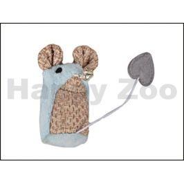 Hračka pro kočky FLAMINGO - Shabby myš 15x8x3,5cm