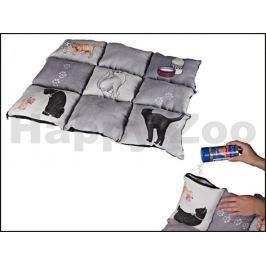 Deka TRIXIE Patchwork pro kočky šedá 44x55cm