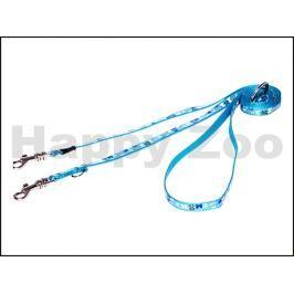 Vodítko přepínací ROGZ Lapz Trendy HLM 520 B-Blue Bones (XS) 0,8