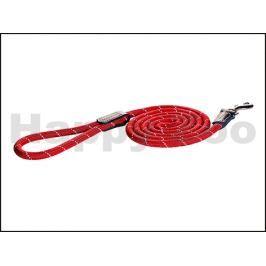Vodítko ROGZ Rope HLLR 06 C-Red (S) 0,6x180cm