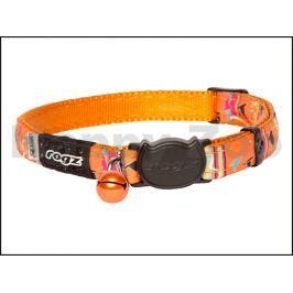 Obojek ROGZ Catz NeoCat CB 41 D-Orange Candystripes (S) 1,1x20-3