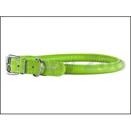 Obojek COLLAR Glamour Round kožený zelený 0,9x20-25cm