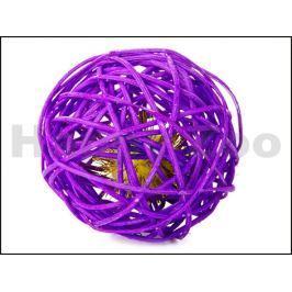Hračka pro kočky JK - ratanová koule fialová 6cm