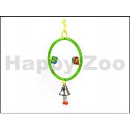 Hračka pro ptáky JK - závěsný kruh se zvonkem