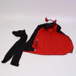 Dětský kostým čertík s rohy
