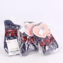 Dětské ponožky modré barvy - 3 páry